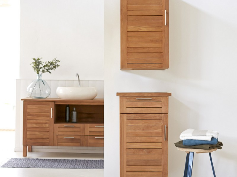 Teak Wood Bathroom Accessories