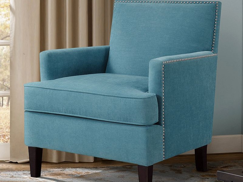 Teal Accent Chair With Arms