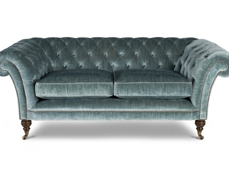 Teal Velvet Chesterfield Sofa