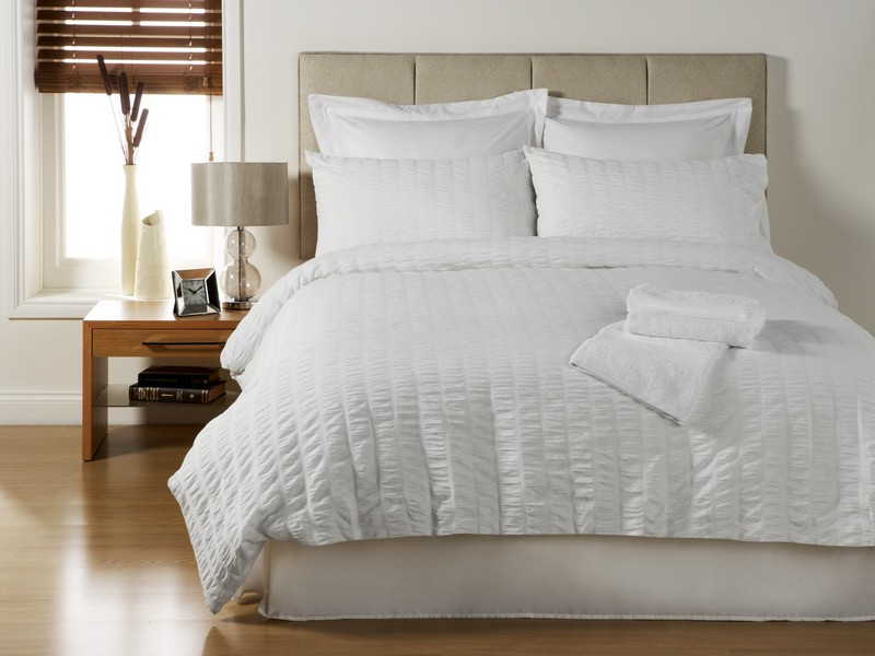 Textured White Duvet Cover