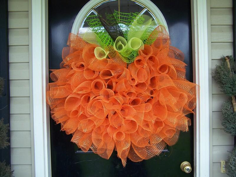 Thanksgiving Mesh Wreath Ideas