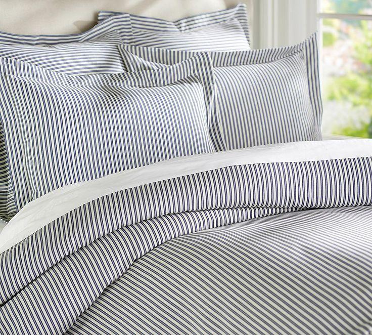Ticking Stripe Duvet Cover Twin