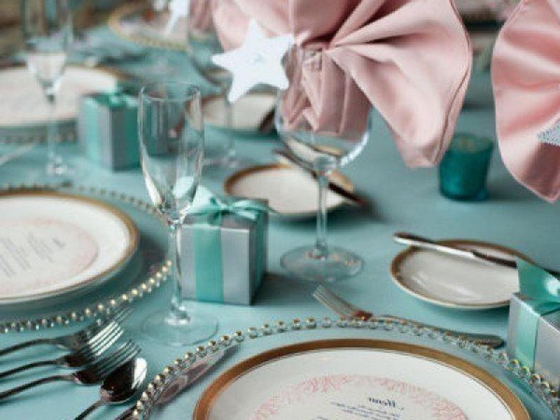 Tiffany Blue Plates And Napkins