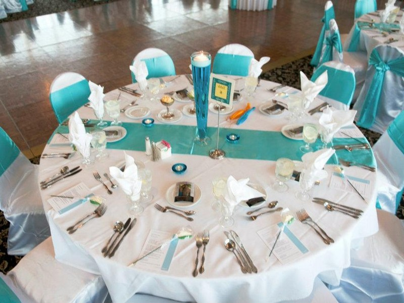 Tiffany Blue Tablecloths Weddings