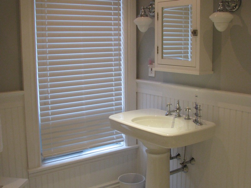 Tile And Wainscoting In Bathroom