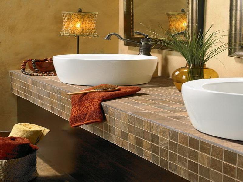 Tile Bathroom Countertop Ideas