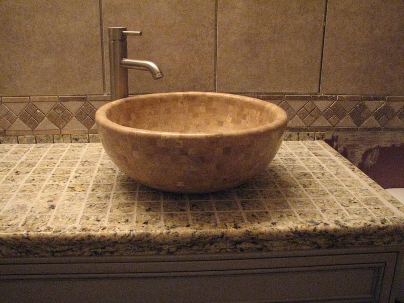 Tile Bathroom Sink Countertop