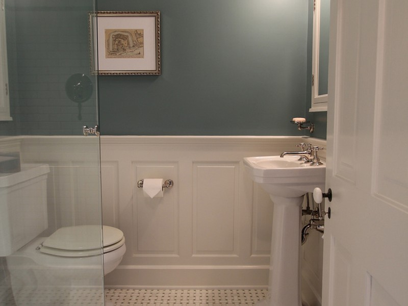 Tile Wainscot Bathroom