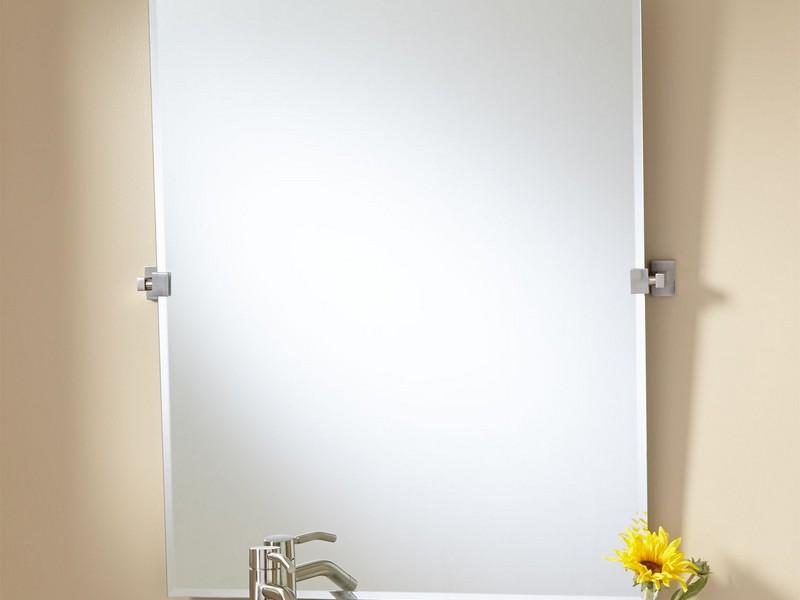 Tilting Bathroom Mirror Chrome