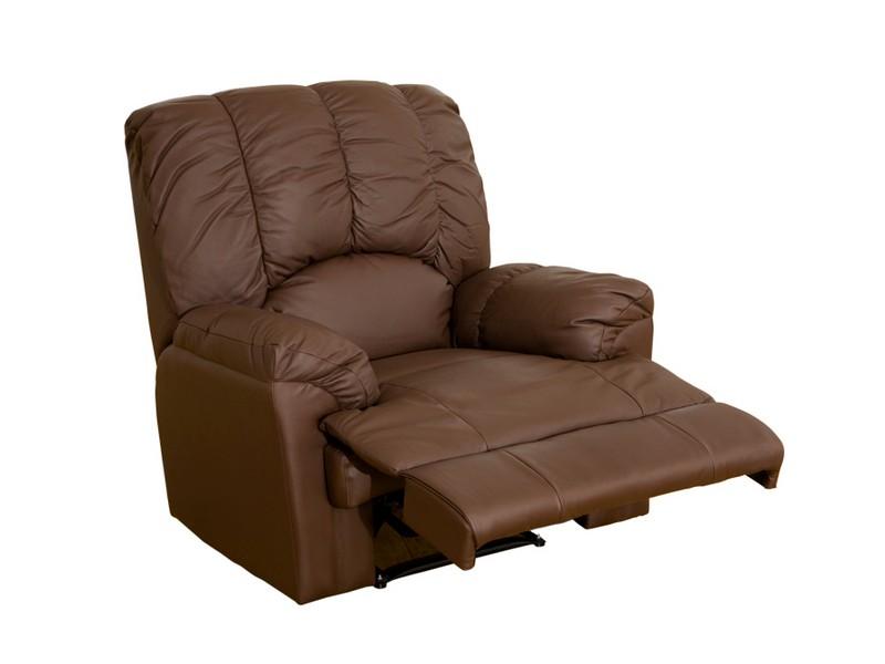 Top Grain Leather Reclining Sofa