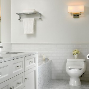 Traditional Subway Tile Bathrooms