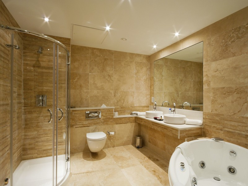 Travertine Tile Bathroom Designs