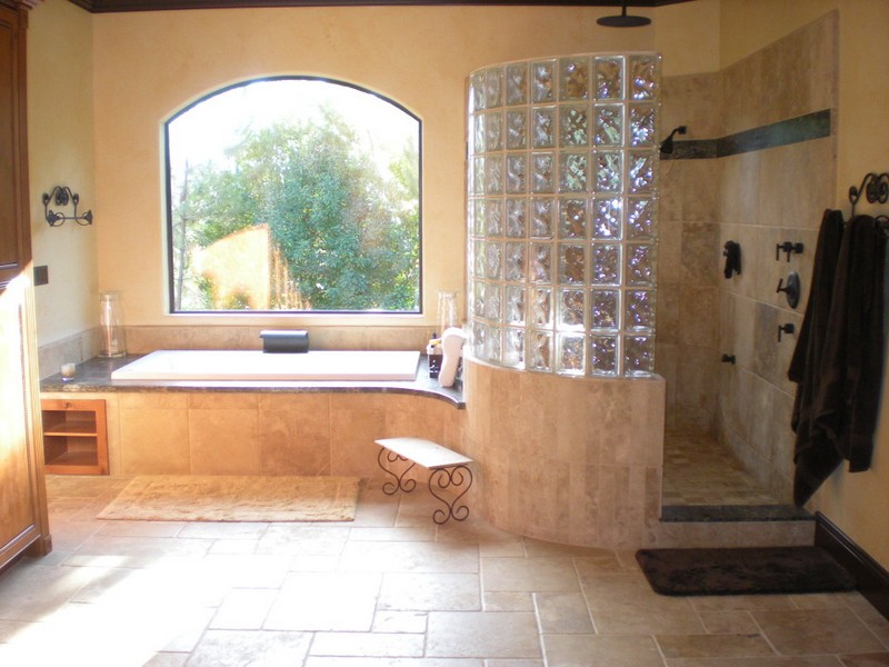 Travertine Tile Bathroom Images