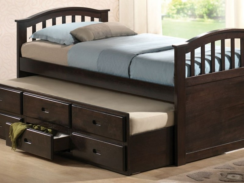 Trundle Twin Bed With Drawers