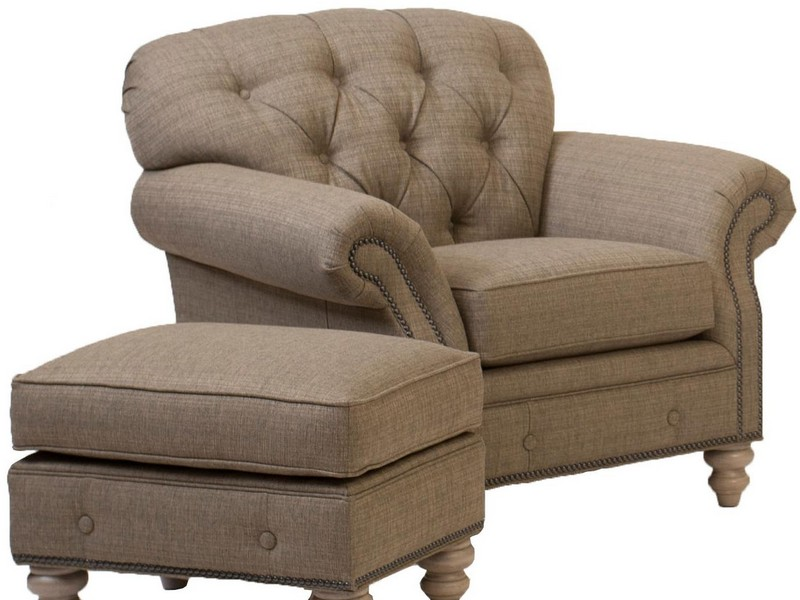 Tufted Chair And Ottoman Set