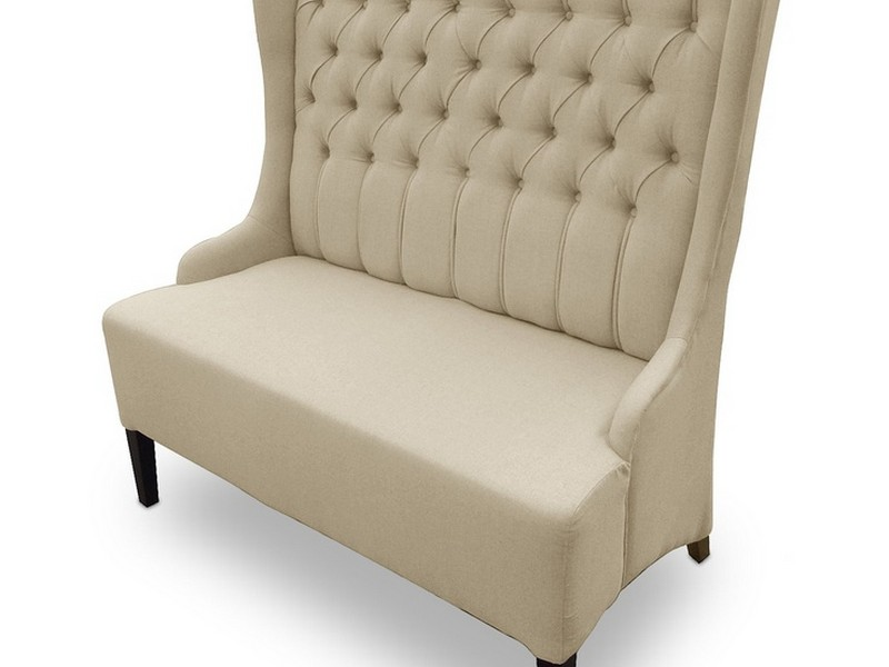 Tufted High Back Loveseat