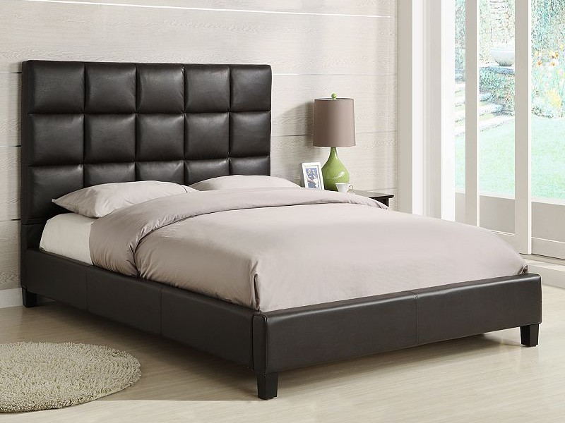 Tufted Leather Headboard Queen