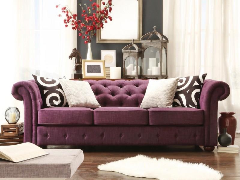 Tufted Linen Sofa