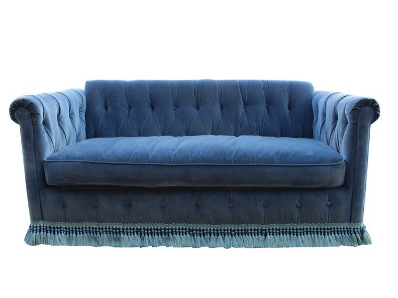 Tufted Sleeper Sofa Velvet