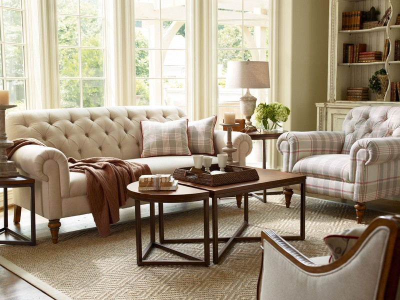 Tufted Sofa Set