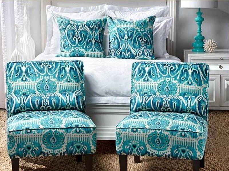 Turquoise Accent Chair With Arms