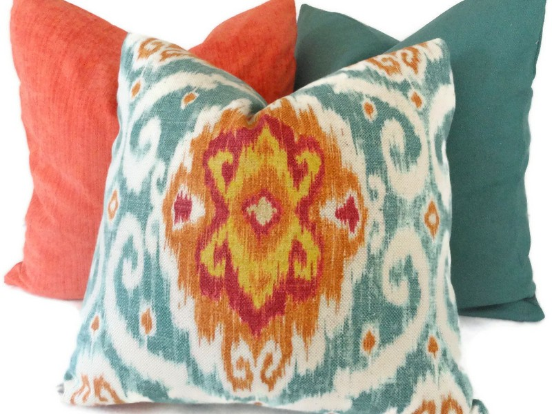 Turquoise Accent Pillows For Bed