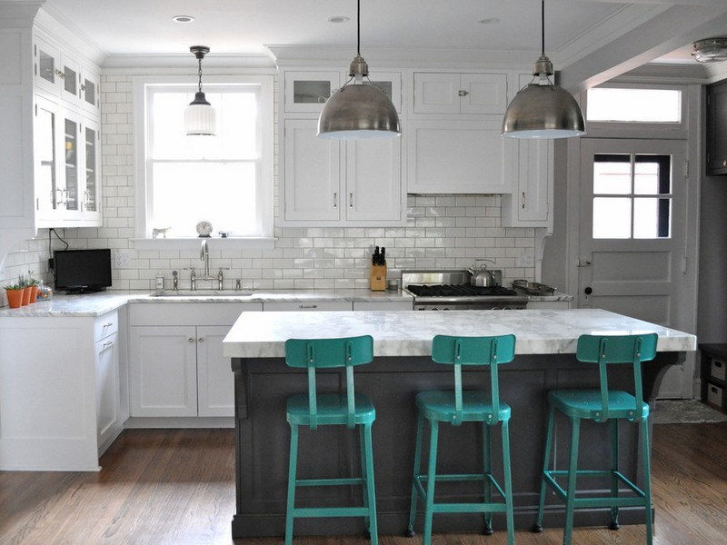 Turquoise Bar Stools Kitchen