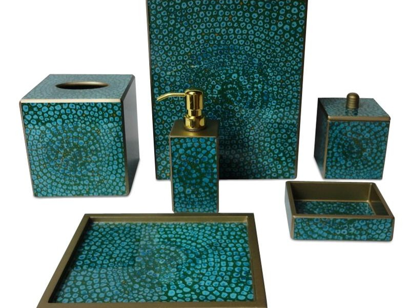 Turquoise Bathroom Accessories Sets