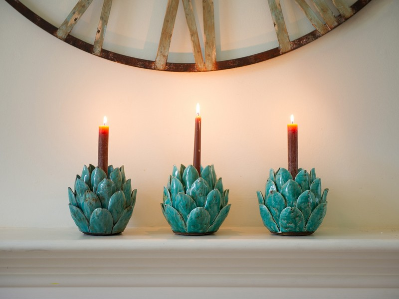 Turquoise Candle Holders