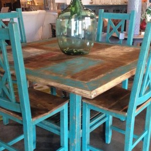 Turquoise Painted Dining Chairs