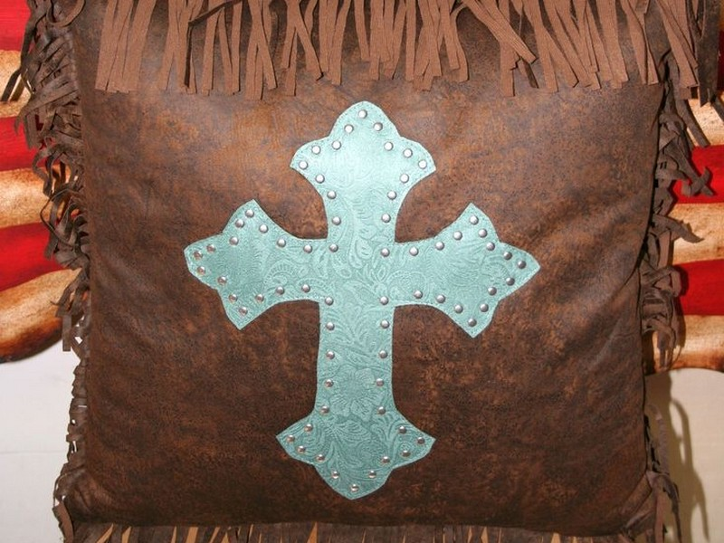 Turquoise Western Throw Pillows