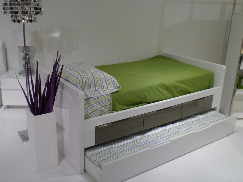 Twin Bed With Trundle Metal
