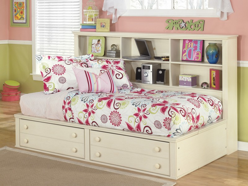 Twin Bookcase Bed With Drawers