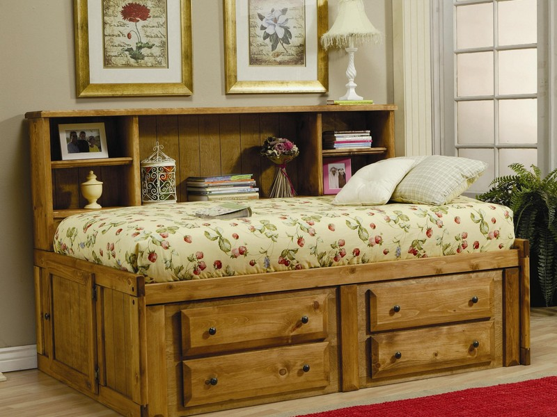 Twin Bookcase Bed With Trundle