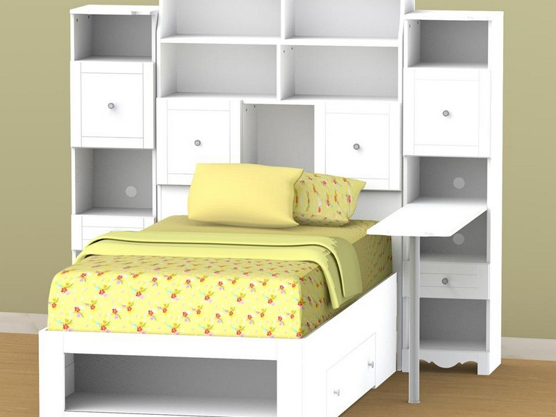 Twin Bookcase Storage Bed