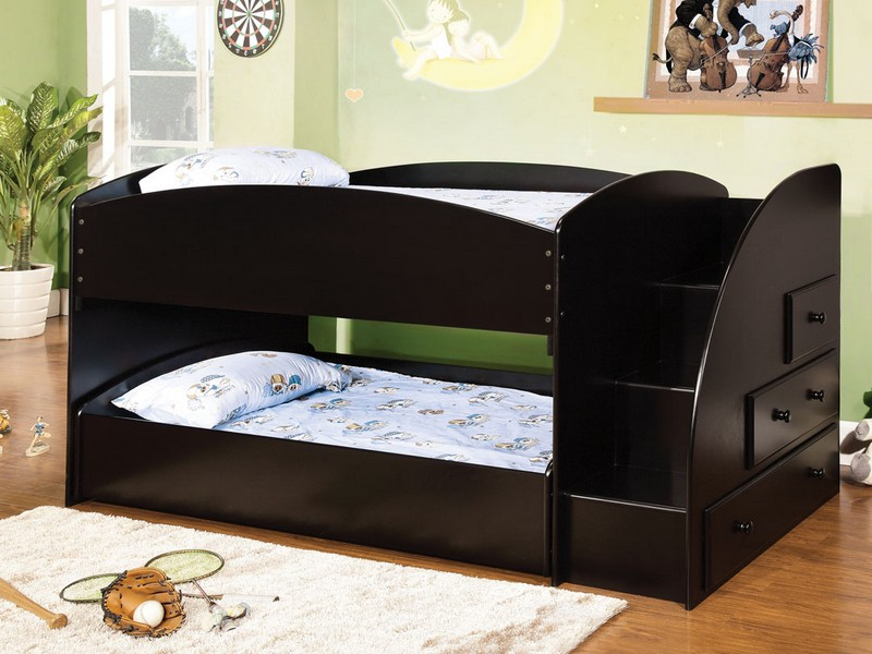 Twin Bunk Bed With Trundle And Stairs