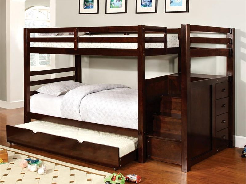 Twin Bunk Bed With Trundle And Storage