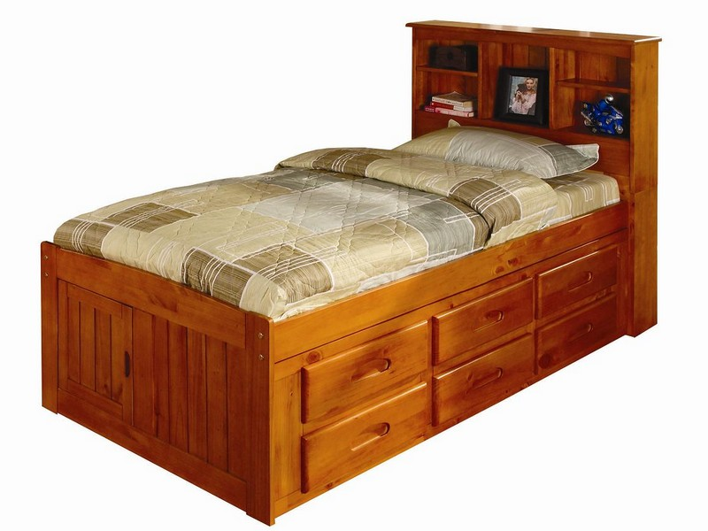 Twin Captain Bed With Storage