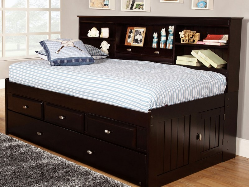 Twin Captain Bed With Trundle And Storage