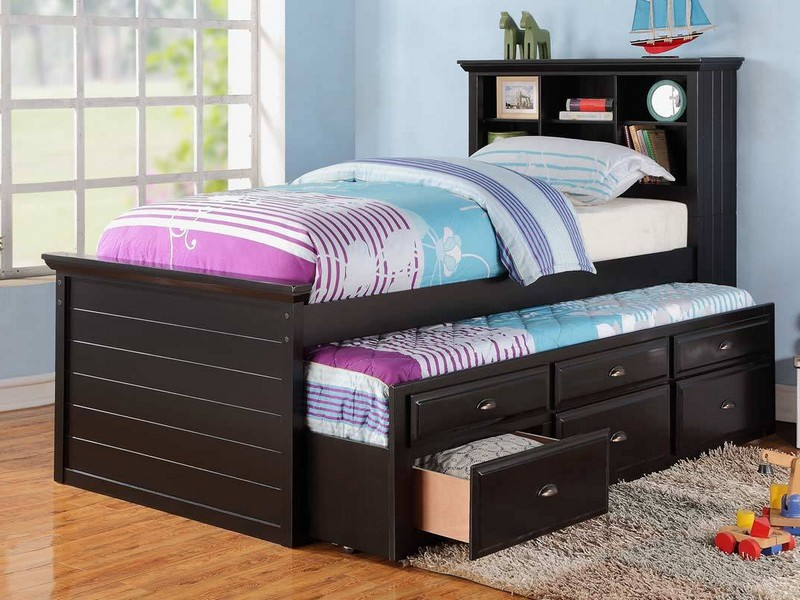 Twin Size Bed With Trundle And Drawers
