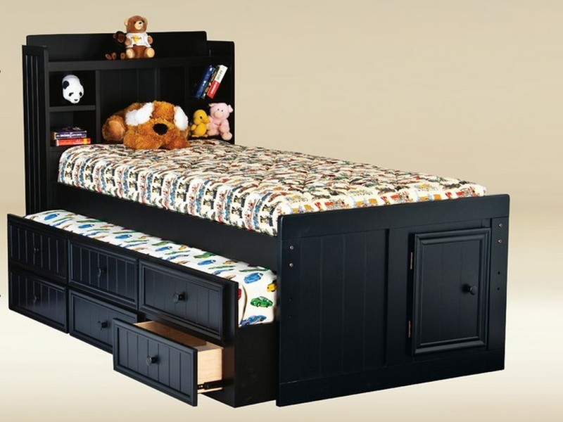 Twin Size Bed With Trundle