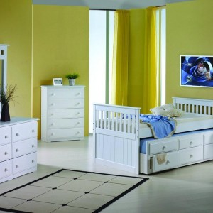 Twin Size Captains Bed With Storage