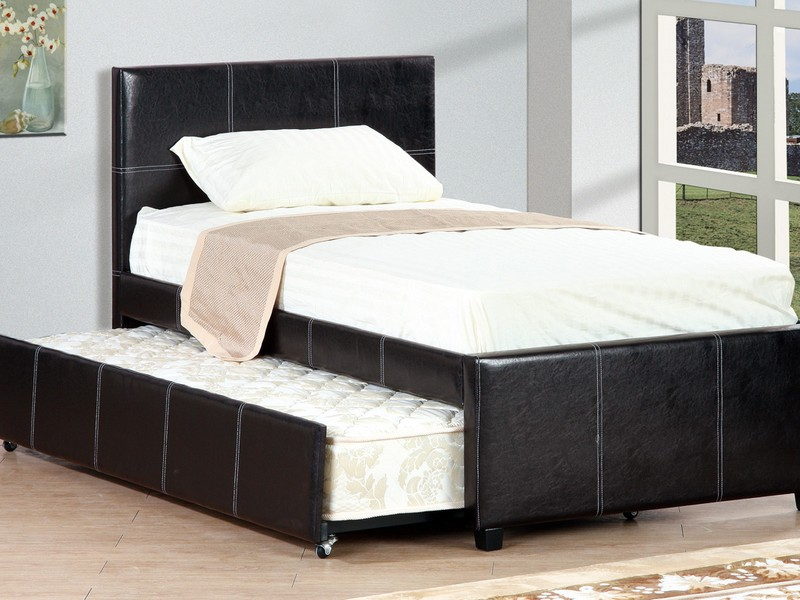 Twin Size Trundle Bed Frame Unfinished Wood
