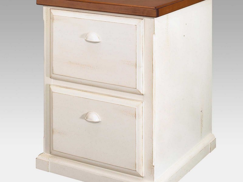 Two Drawer Filing Cabinet White