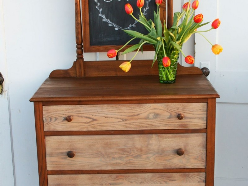 Two Toned Stained Dresser