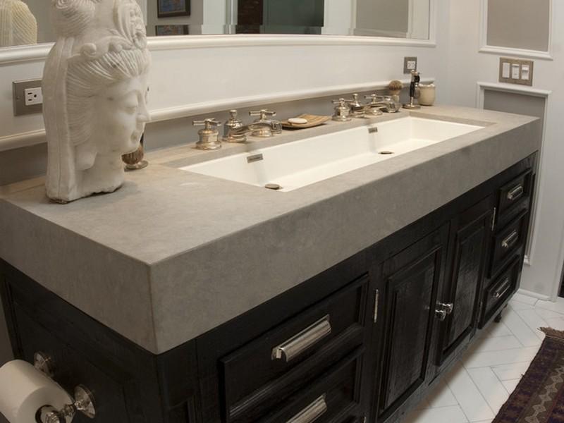 Undermount Trough Sink Bathroom