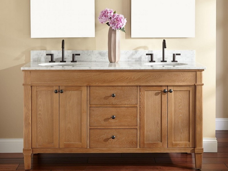 Unfinished Oak Bathroom Vanity
