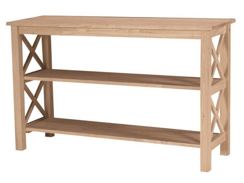 Unfinished Sofa Table With Drawer