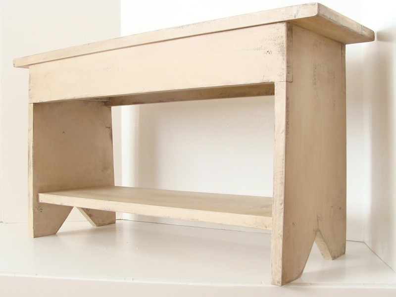 Unfinished Storage Bench Seat