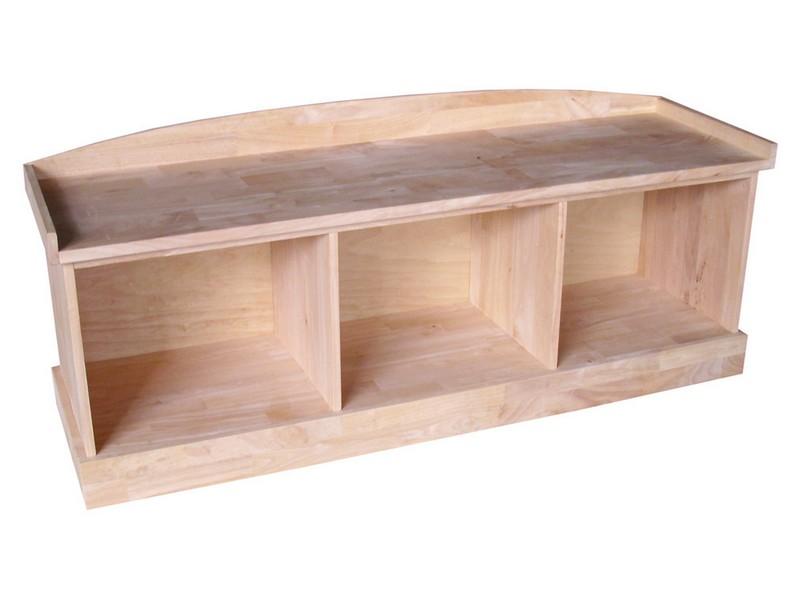 Unfinished Storage Bench